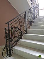 Кованые перила для лестницы, балкона, в классическом стиле., фото 1