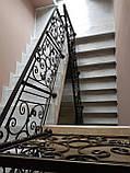 Ковані перила для сходів, балкона, в класичному стилі., фото 5
