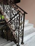 Ковані перила для сходів, балкона, в класичному стилі., фото 6