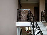 Ковані перила для сходів, балкона, в класичному стилі., фото 8