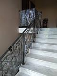 Ковані перила для сходів, балкона, в класичному стилі., фото 9