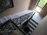 Ковані перила для сходів, балкона, в класичному стилі., фото 10