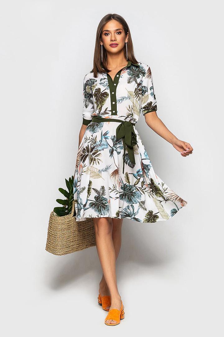 """Приталенное платье-рубашка """"Darville"""" с коротким рукавом (5 цветов)"""