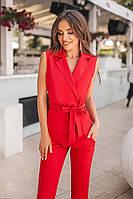 (S, M, L) Шикарний жіночий червоний костюм Astrid