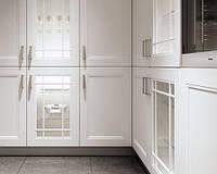 Белые фасады из натурального дерева ясеня в кухню, фото 1