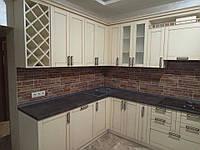 Классические фасады из натурального дерева ясеня в кухню, фото 1