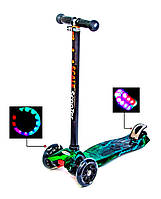 Детский самокат MAXI Химия, со светящимися колесами, поворот наклоном руля