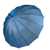 Жіночий парасольку-тростину, напівавтомат від Calm Rain, блакитний (хамелеон), 1002-6, фото 1