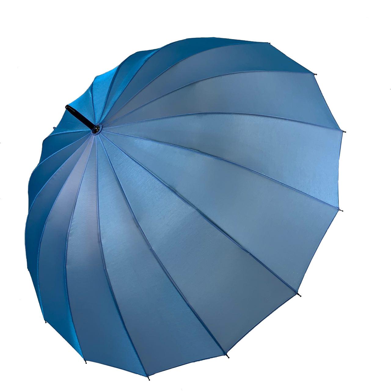 Женский зонтик-трость, полуавтомат от Calm Rain, голубой (хамелеон), 1002-6