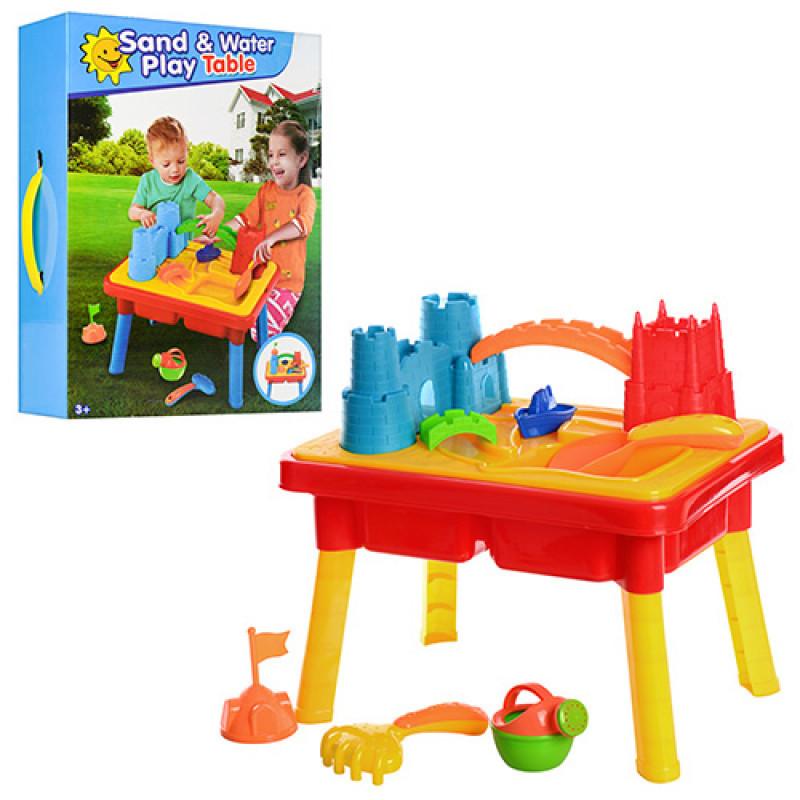 Детский столик песочница  с аксессуарами