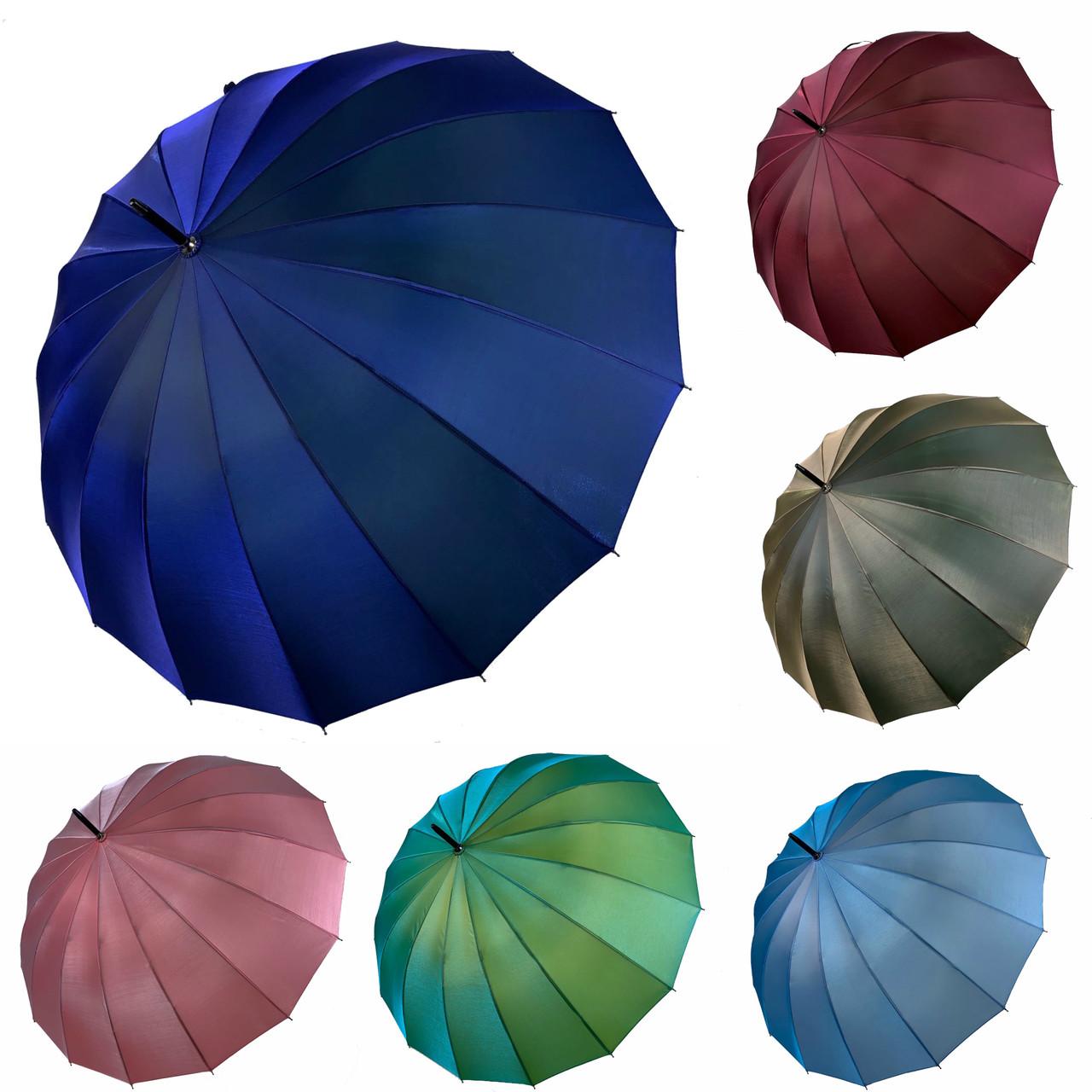 Женский зонтик-трость, полуавтомат Calm Rain, 1002