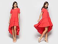 """Летнее асимметричное платье """"Люля"""" с коротким рукавом (6 цветов)"""