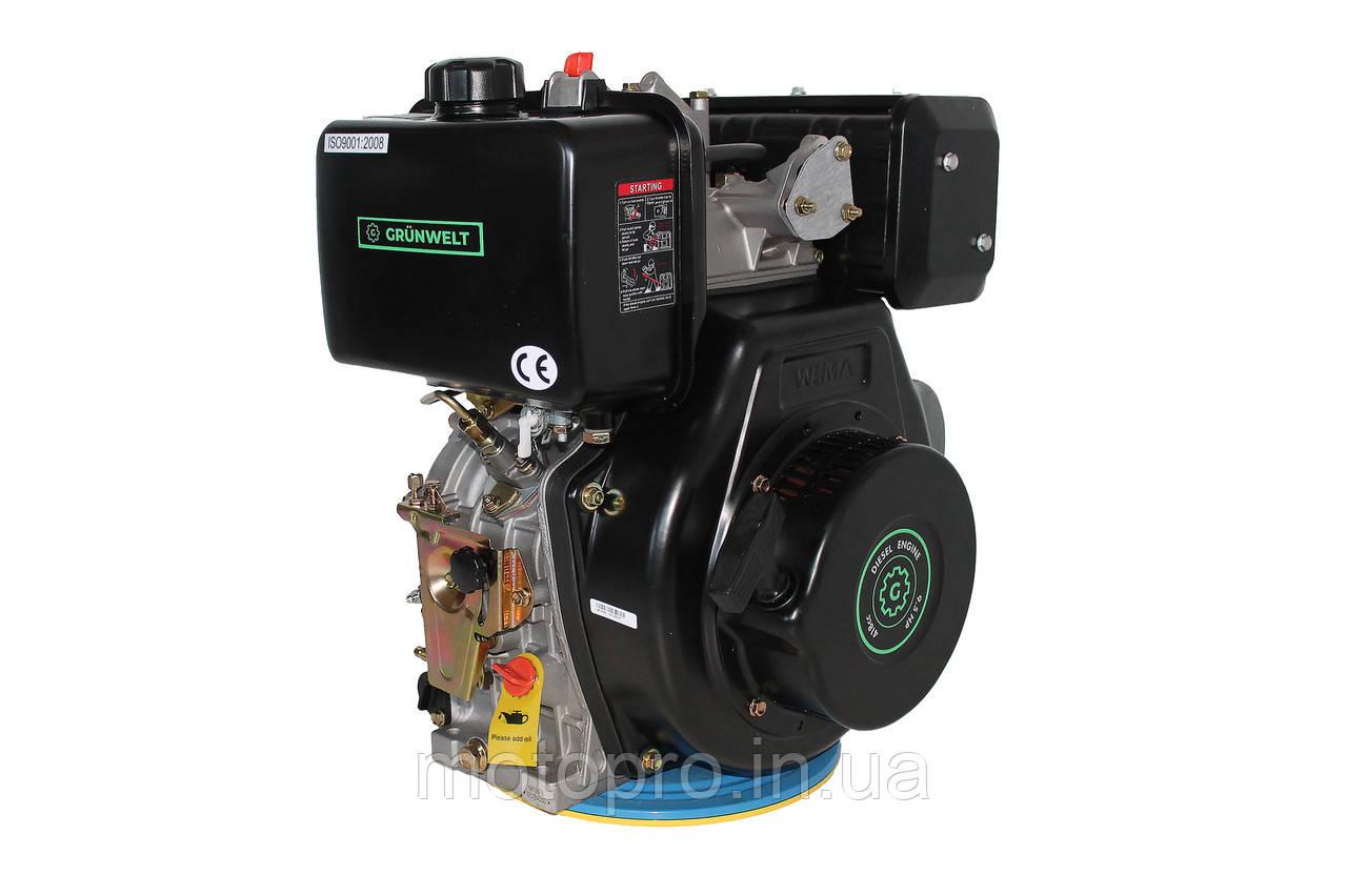 Двигатель Grünwelt GW186FВ-F2 (вал  ШПОНКА), 418cc/диз 9,5 л.с., Ручной стартер