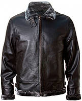 Оригинальная кожаная куртка Top Gun Leather Jacket with Bonded Fur TG1505 (Black), фото 1