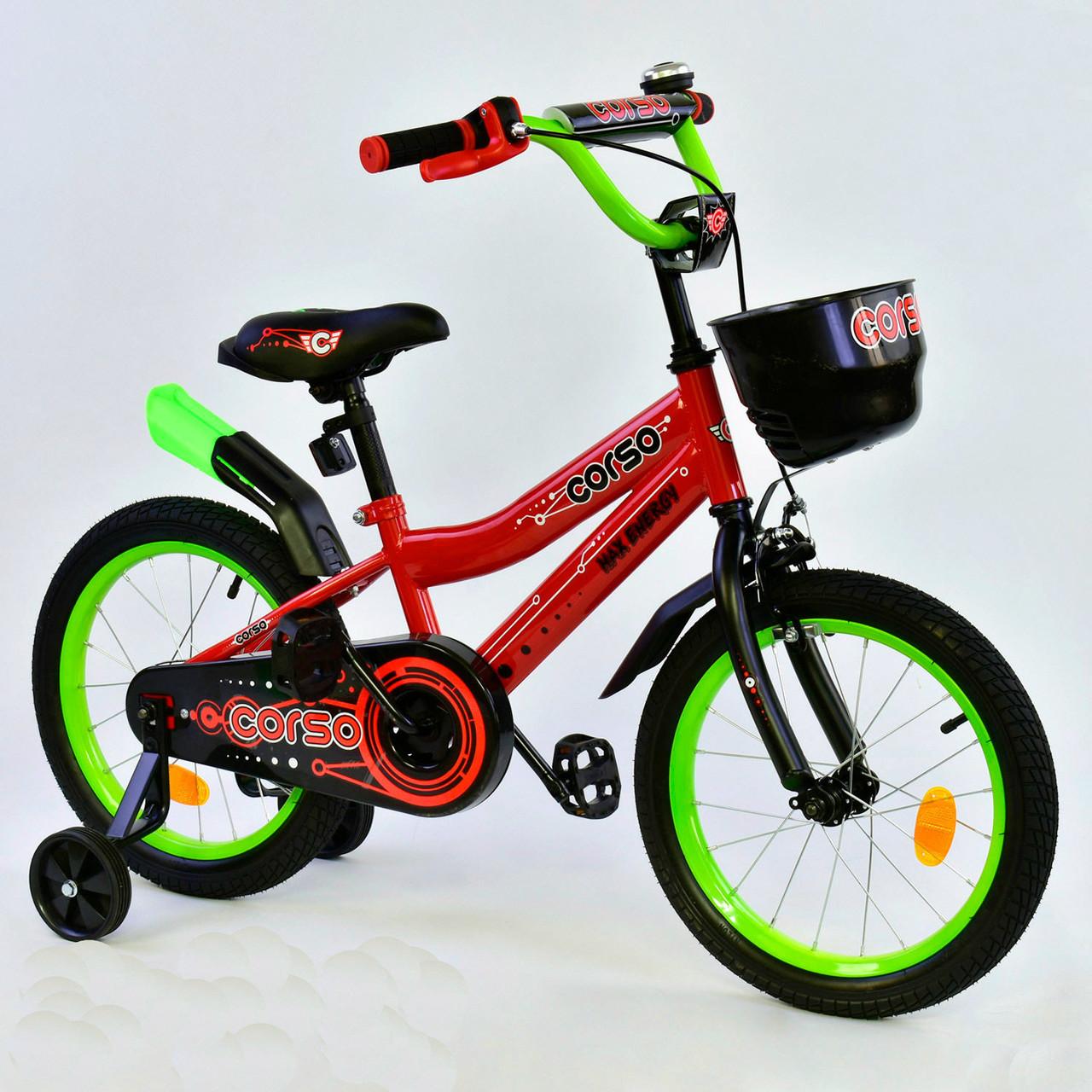 """Велосипед 16"""" дюймов 2-х колёсный R - 16292 """"CORSO"""" 76090"""