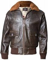 Оригинальная кожаная куртка Offical Top Gun Military G-1 Jacket  G-1(Brown), фото 1