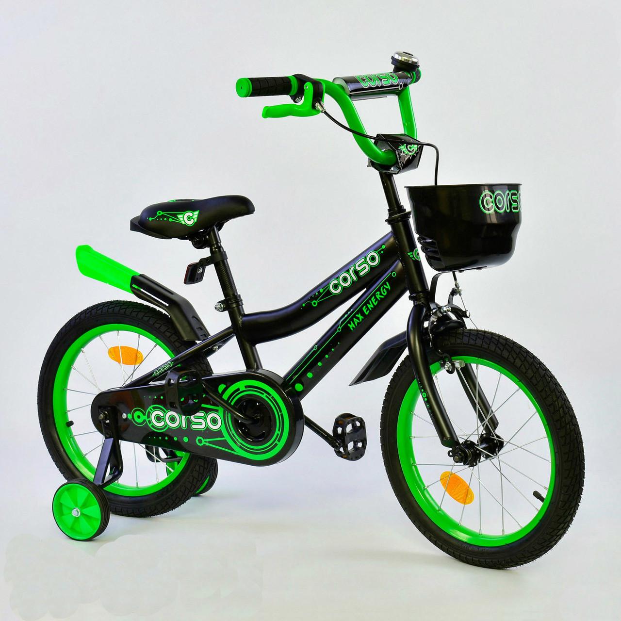 """Велосипед 16"""" дюймов 2-х колёсный R - 16229 """"CORSO"""" 76092"""