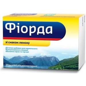 "БАД от горла "" Фиорда лимон "" (30табл.,Украина)"