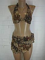 Женский купальник коричневый 9666