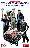 Персонал немецкой железнодорожной станции 1930-40 годы. Набор пластиковых фигур. 1/35 MINIART 38010