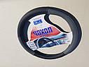 Чехол на руль Vitol черно-серый XL (42-43 см), фото 2