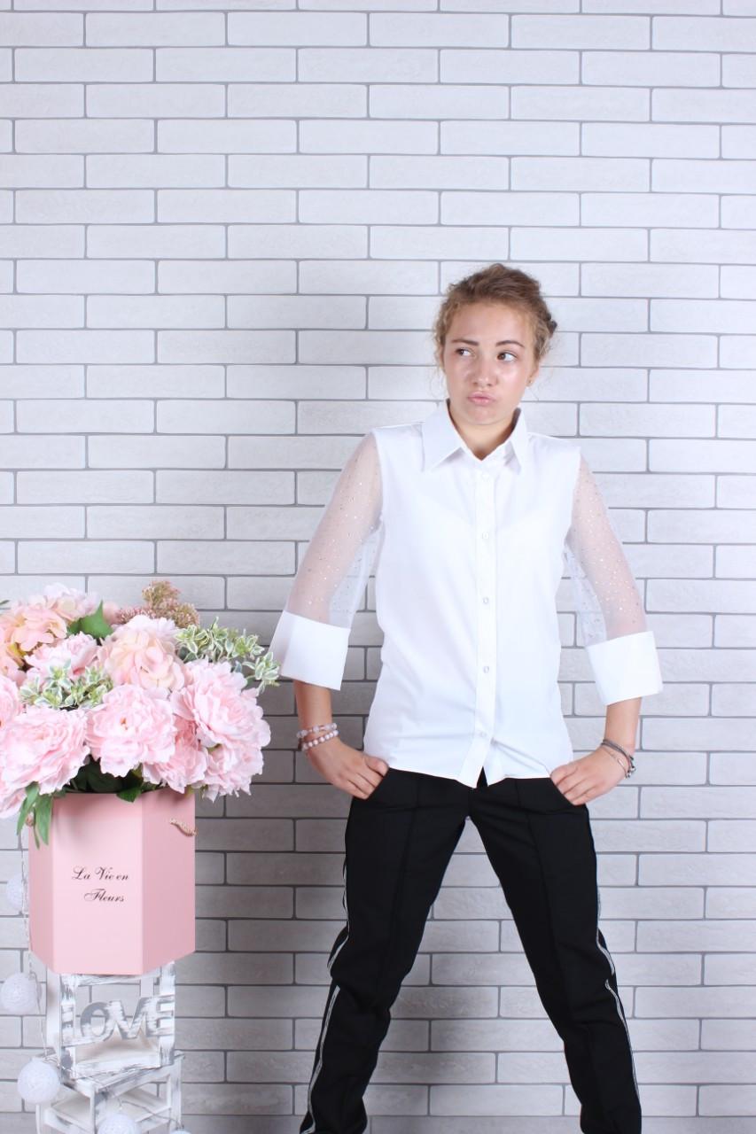 Школьная блузка для девочки р.134-164 опт
