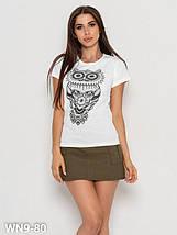Хлопковая женская футболка с совой (S, M, L, XL, разные цвета), фото 2
