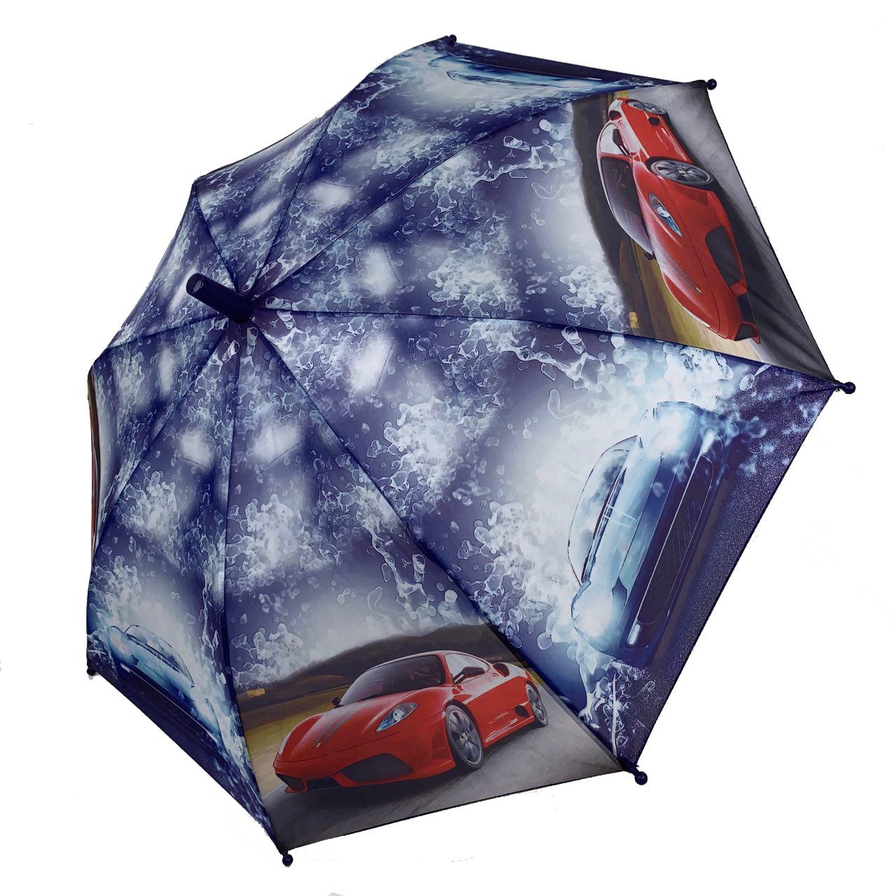 Детский механический зонтик-трость со свистком Max, 10201-6