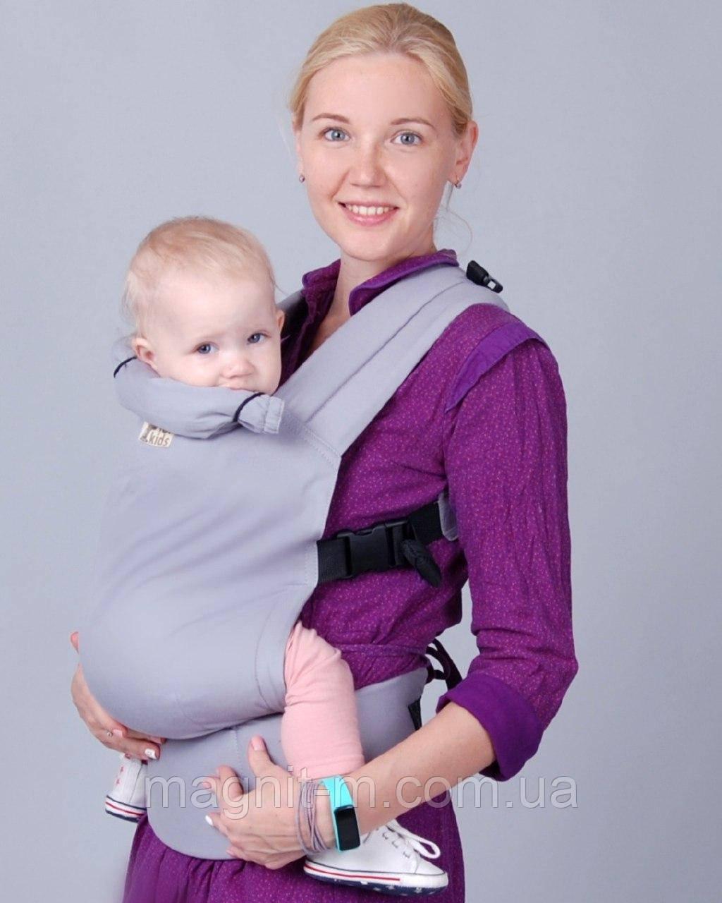 """Эрго-рюкзак """"ForKids"""" сталь, хлопок, второй размер"""