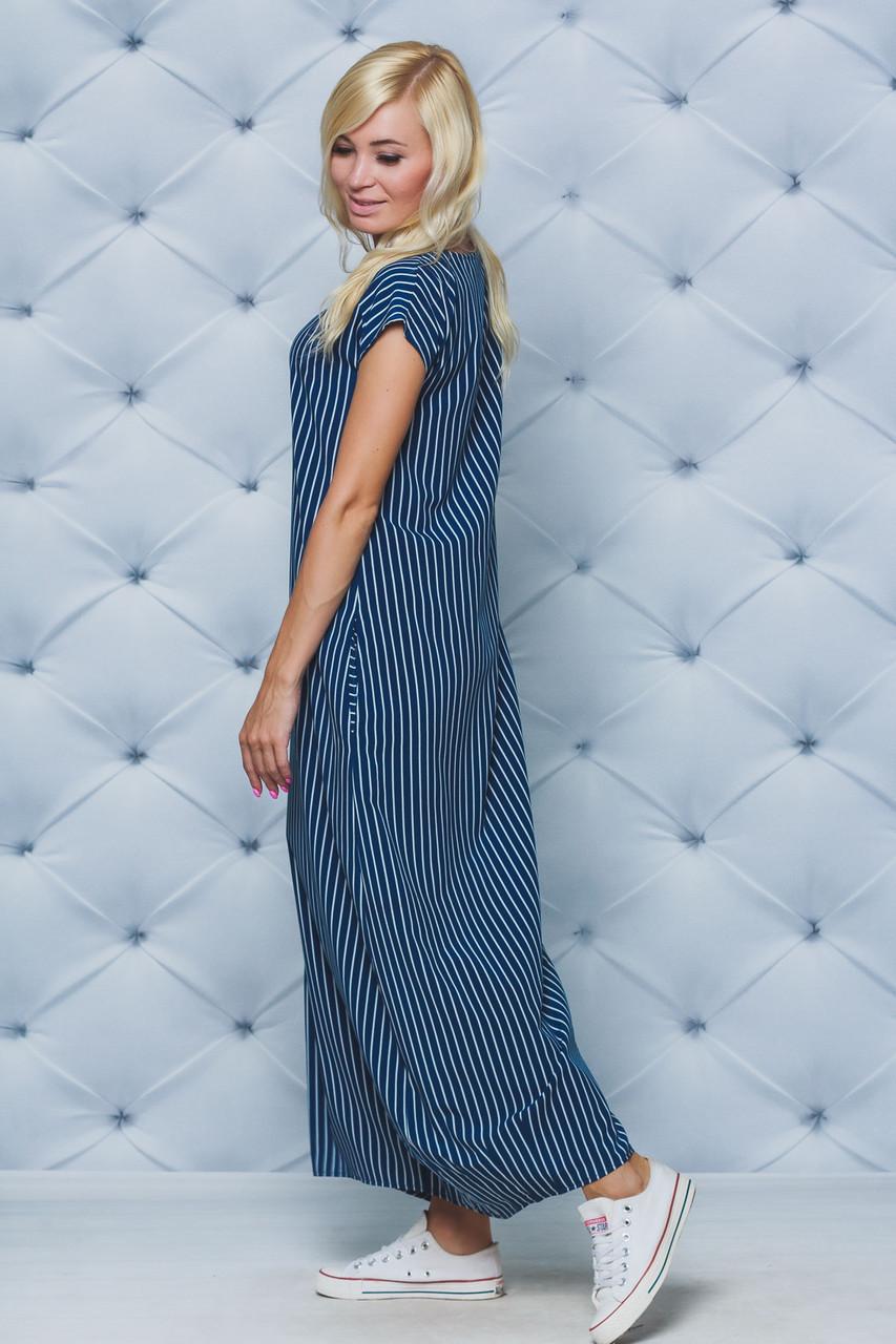 Платье летнее в пол полоска