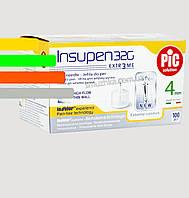 Голки Инсупен 4 мм для шприц-ручок інсулінових - Insupen 32G, 100 шт.