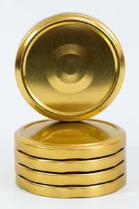 Крышка твист 82 золотистая с клапаном опт