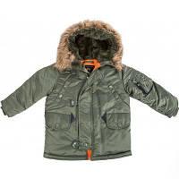Детская куртка аляска Youth N-3B Parka (оливковая)