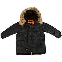 Детская куртка аляска Youth N-3B Parka (черная)