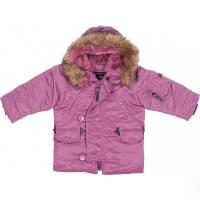Детская куртка аляска Alpha Industries Youth N-3B Parka YJN44500C1 (Pink), фото 1