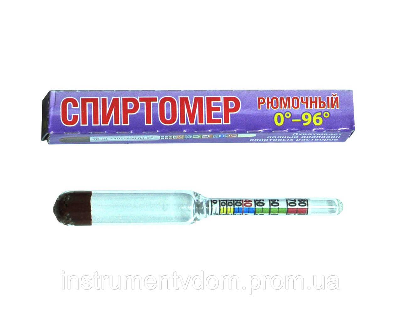 Спиртомер бытовой рюмочный, 0-96° (упаковка 10 шт)