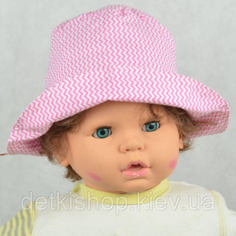 Панама детская (модель 04, розовый зигзаг)
