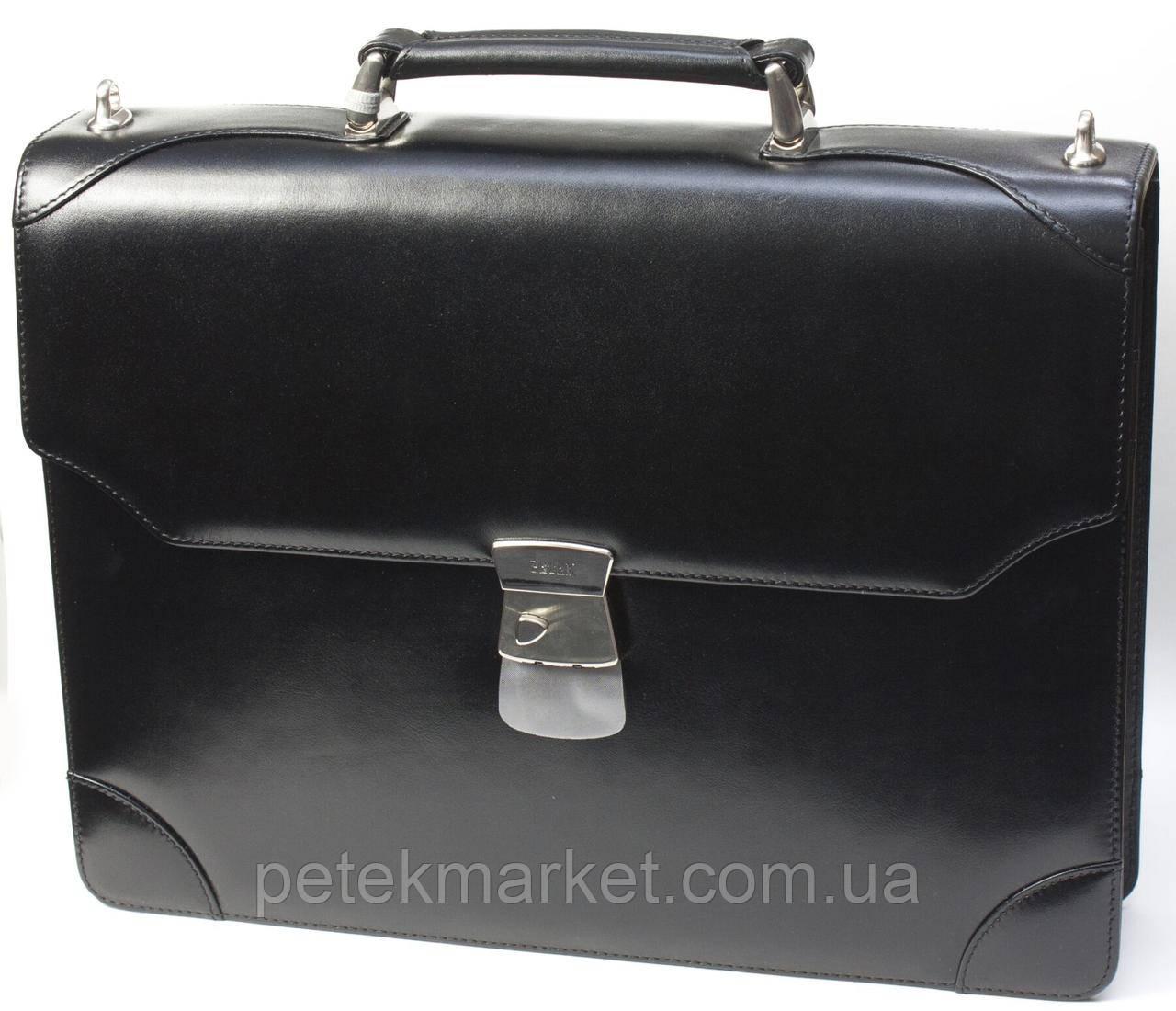 Кожаный портфель Petek 826