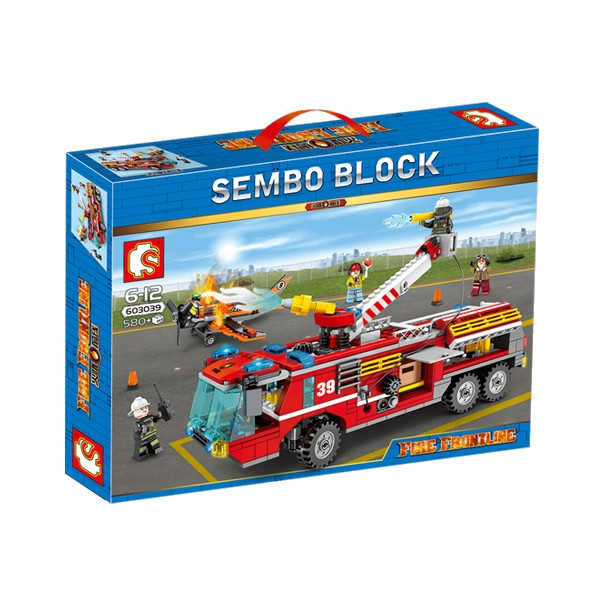 """Конструктор Sembo 603039 """"Пожарная бригада"""" (аналог Lego City), 580 дет"""