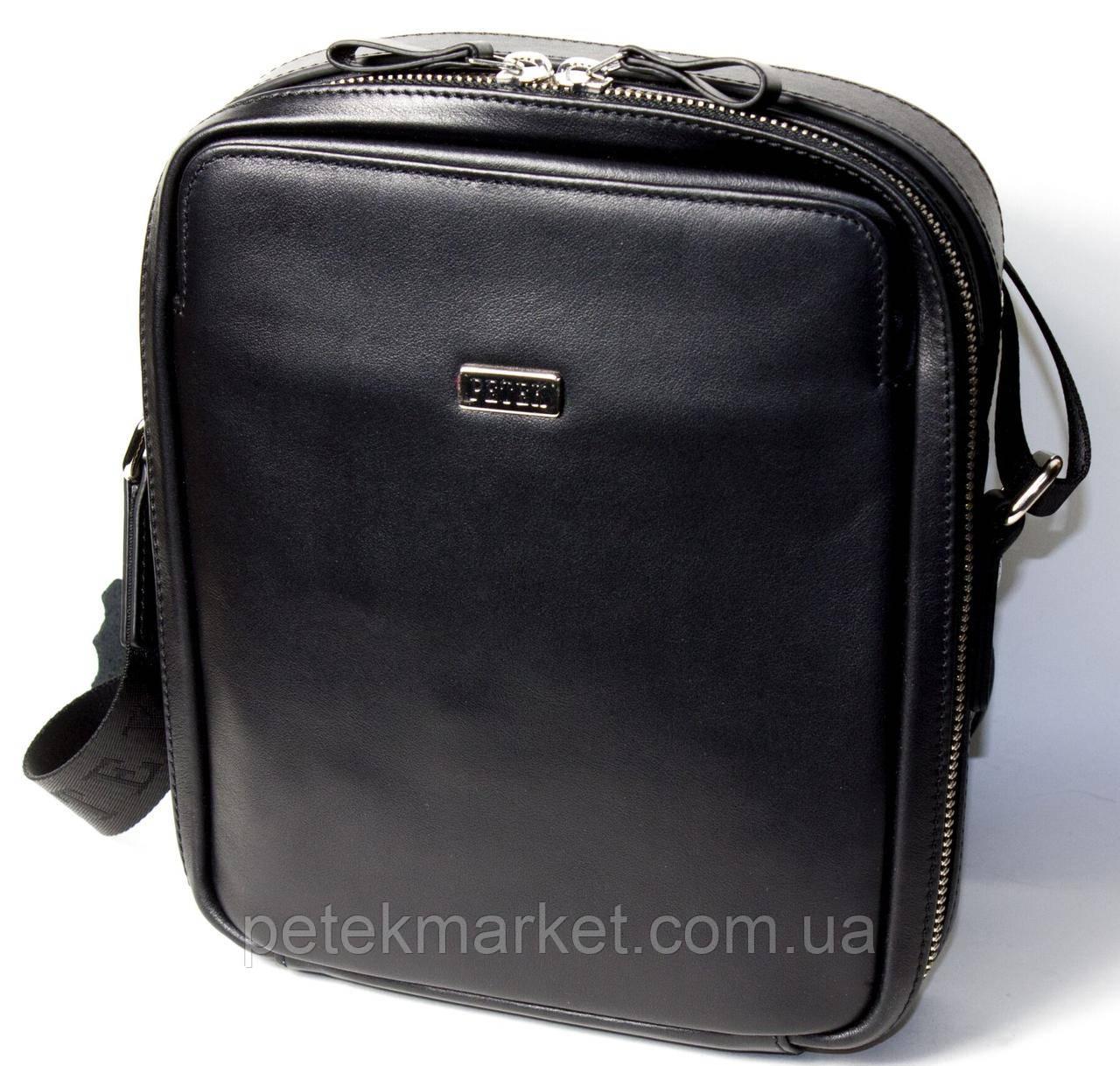 Кожаная мужская сумка Petek 3871