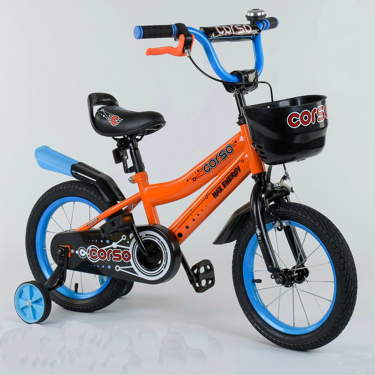 """Велосипед 14"""" дюймов 2-х колёсный R - 14322 """"CORSO"""" 77186"""