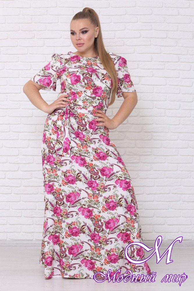Красивое летнее платье больших размеров (р. 42-90) арт. Елена