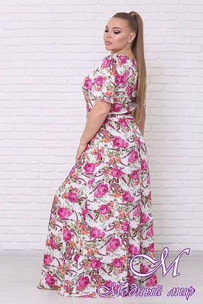 Красивое летнее платье больших размеров (р. 42-90) арт. Елена, фото 2
