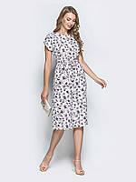 3902d91189ace3 Легке повітряне плаття з принтованого софта метелик біле розмір 46 48 50 52