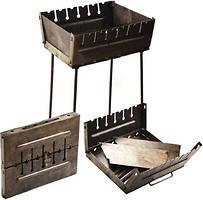 Мангал чемодан Stenson складной раскладной  на 6 шампуров