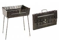 Мангал чемодан Stenson складной раскладной  на 8 шампуров