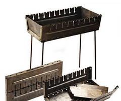 Мангал чемодан Stenson складной раскладной  на 10 шампуров