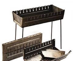 Мангал чемодан Stenson складной раскладной  на 12 шампуров
