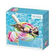 Intex 58753 Надувний матрац-плотик Льодяник 208х135 см