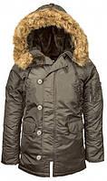 Жіноча зимова куртка аляска Alpha Industries N-3B W Parka WJN44502C1 (Replica Grey)